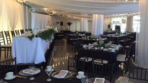 Harvest Hall with wedding decor
