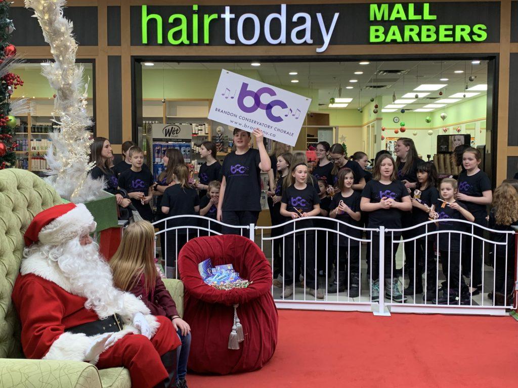 BCC Flash mob at Brandon Shoppers Mall Dec 2019