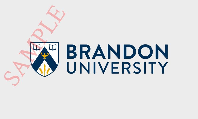 Brandon University Horizontal Logo 2 Colour