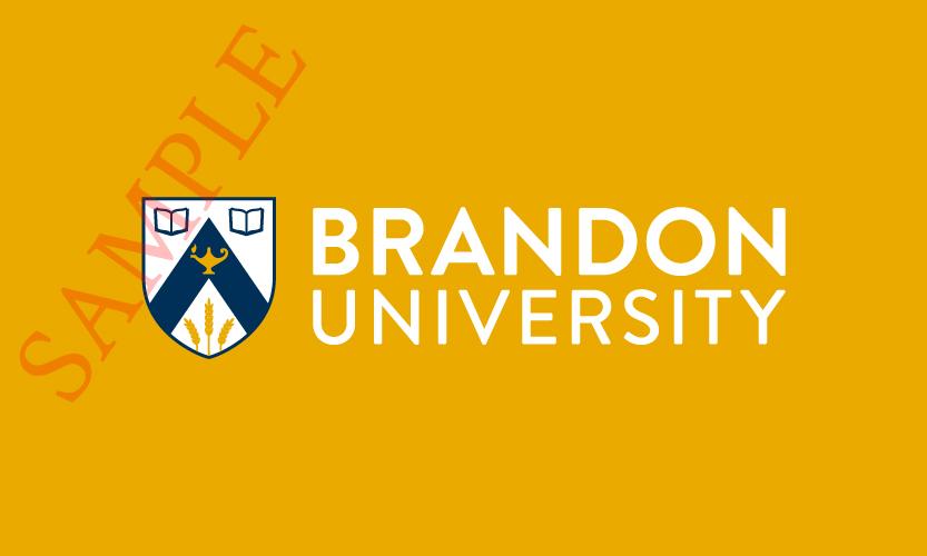 Brandon University Horizontal Logo 2 Colour White Text
