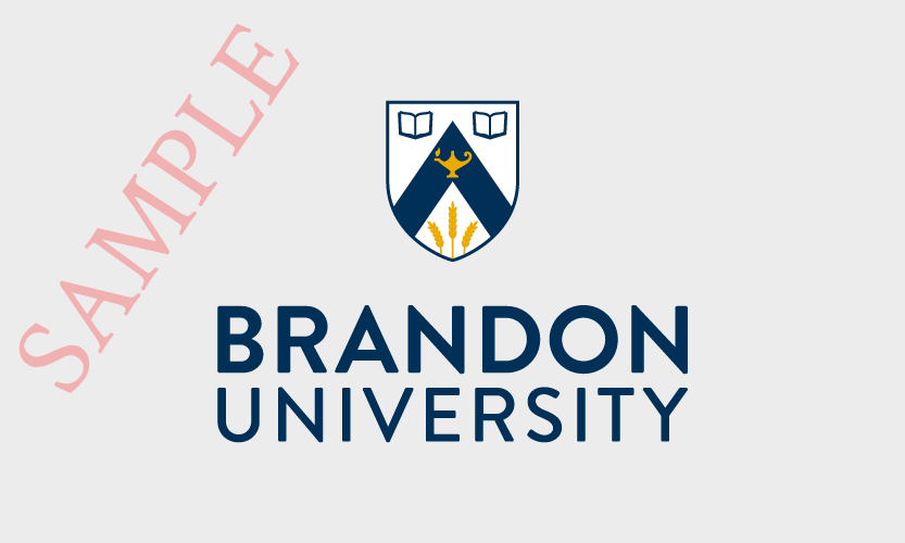 Brandon University Vertical Logo 2 Colour