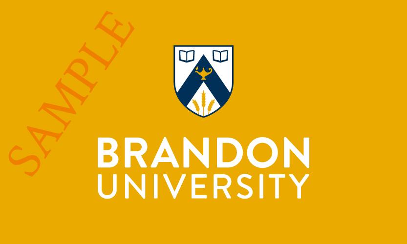Brandon University Vertical Logo 2 Colour White Text