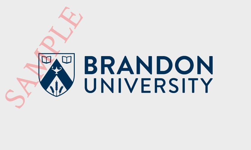 Brandon University Horizontal Logo 1 Colour Navy Blue
