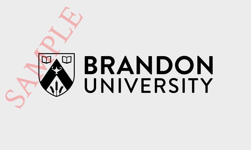 Brandon University Horizontal Logo 1 Colour Black