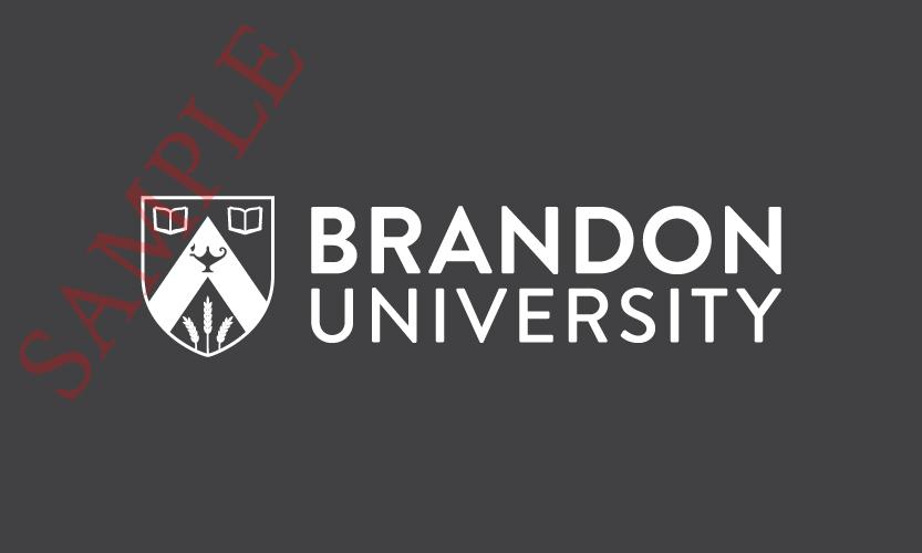 Brandon University Horizontal Logo 1 Colour White