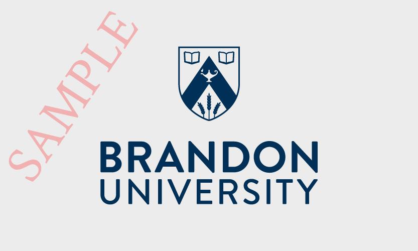 Brandon University Vertical Logo 1 Colour Navy Blue