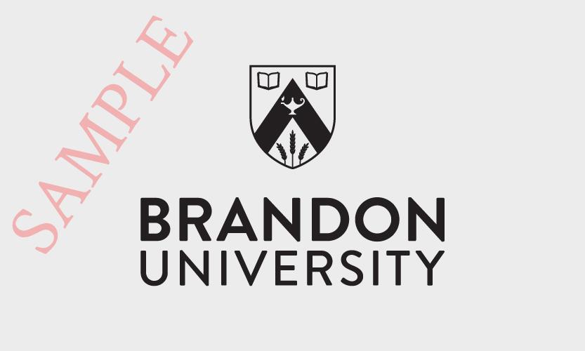 Brandon University Vertical Logo 1 Colour Black