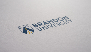 Brandon University logo and text