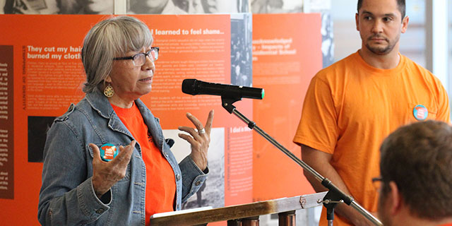 Barb Blind speaking at 100 Years of Loss event