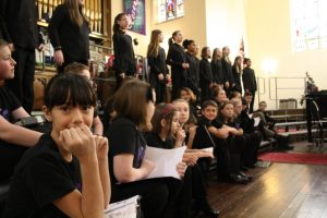 Conservatory Chorale students performing
