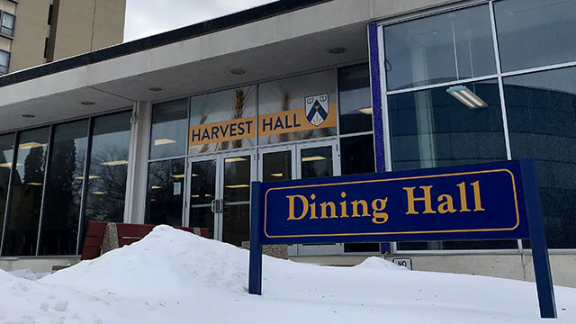 Front Entrance to Harvest Hall