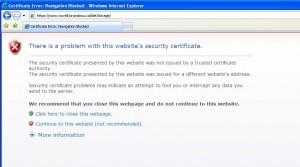 Internet Explorer cert