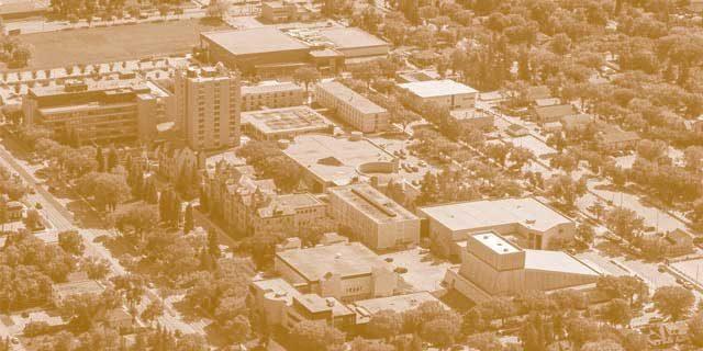 BU campus aerial photo