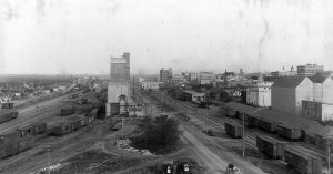 A historic view of downtown Brandon.