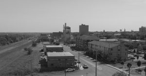 A modern view of downtown Brandon, from a similar vantage point.