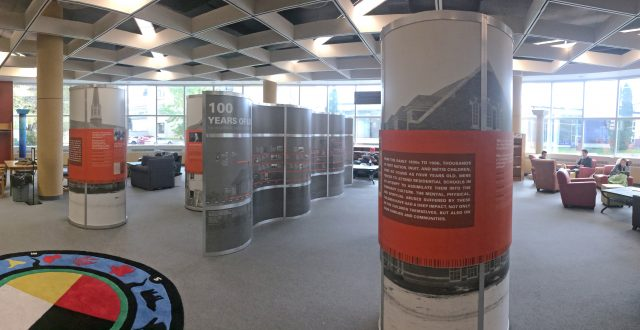The 100 Years of Loss exhibition is on display in the John E. Robbins library until Oct. 20, 2017.