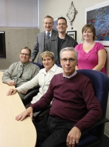 CTLT committee members 2014 (clockwise from top left) Michael Malazdrewicz, Glen Gross, Michelle Magnusson, Dr. Dean Care, Diane Novak, and Dr. Cam Symons