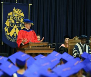 Honorary degree recipient Eric Friesen