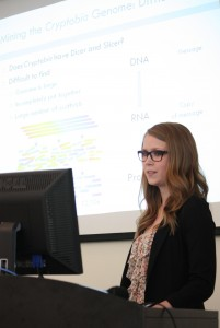 Danielle Sharanowski delivers research findings