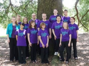 Dr. Catherine Wood (far left) with BU School of Music Clariinet Choir at Clarinetfest, Baton Rouge, Louisiana, 2014