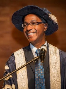 Dr. Gervan Fearon in Presidential Robe at Intallation, 2014 (web)