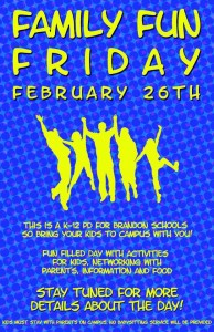 Family Fun Friday Poster