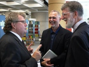 Hon. Ed Holder with RDI Director Dr. Bill Ashton and RPLC Director Dr. Bill Reimer