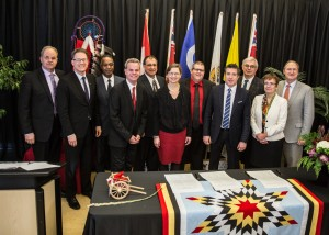 Post-secondary education leaders in Manitoba signed the Indigenous Education Blueprint, committing their institutions to enhancing Aboriginal education.