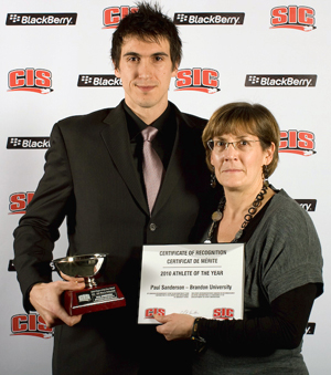 Paul Sanderson with Sandy Slavin of the CIS  (Andrew Snucins Photography)