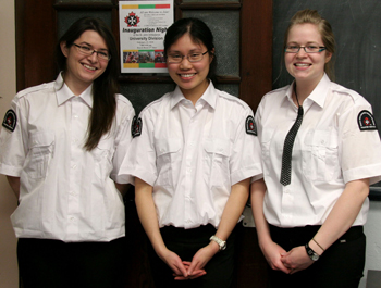 Pictured (L-R): Kaytey Martin, Janet Lee and Kyla Woodson, Advanced Medical First Responders.