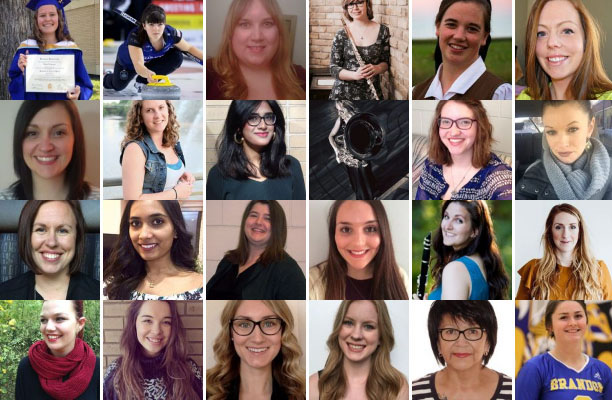 Photo collage of outstanding female students
