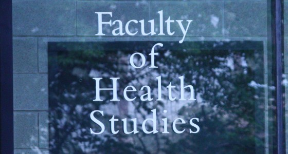 new sign Faculty of Health Studies