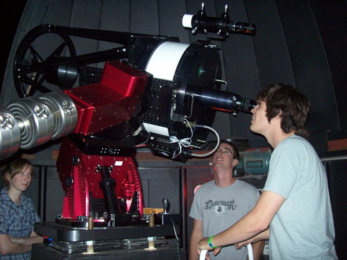 Students explore the sky with new telescope
