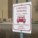Carpool Spot Designation Sign