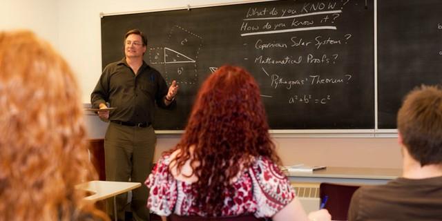 Associate Professor teaching a class