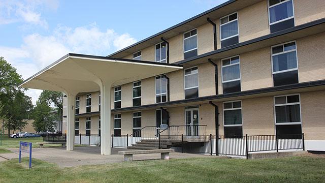 Flora Cowan Hall Residence Building Entrance