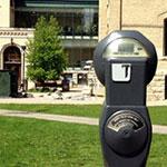 Parking Meter on Brandon University Campus
