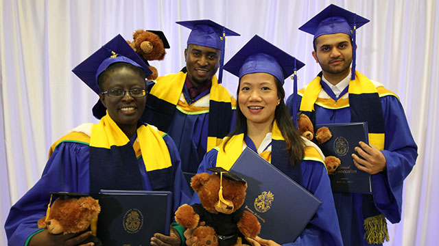 International Students celebrate graduation